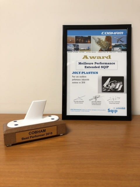 JOLY PLASTICS GROUPE DELTA PLASTURGY REÇOIT L'AWARD «BEST PERFORMER»