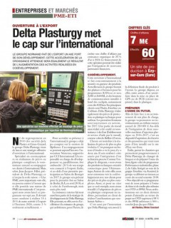 DELTA PLASTURGY MET LE CAP SUR L'INTERNATIONAL
