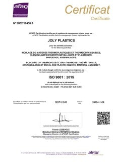 CERTIFICATION ISO 9000