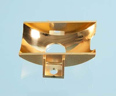 Miroir pour équipement de jumelles haute-performance jour/nuit (ultem + revêtement or).