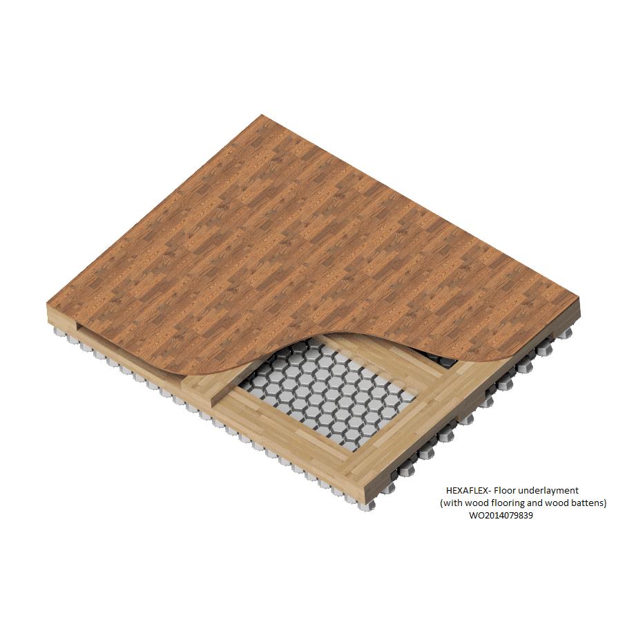 Hexaflex sous couche technique pour les sols