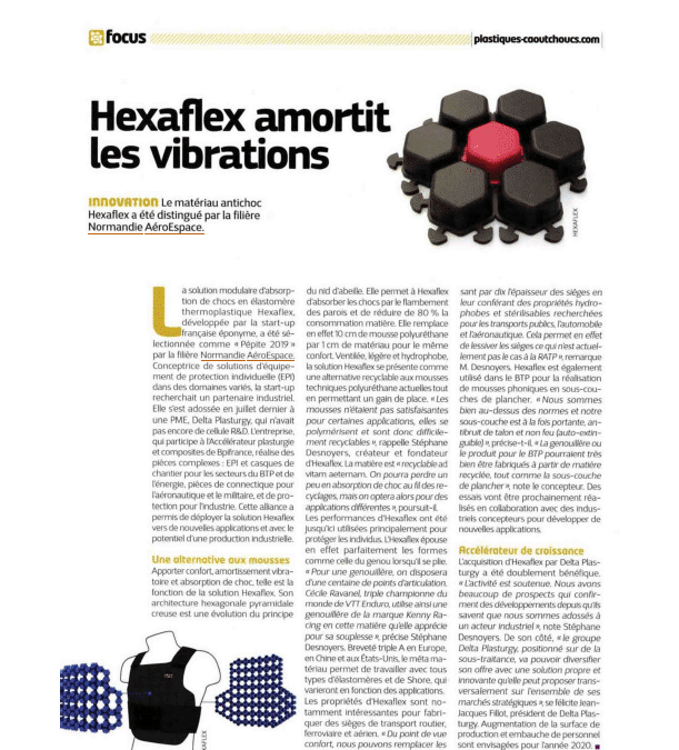 HEXAFLEX DAMPENS VIBRATIONS